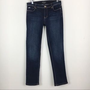 WHBM Dark Wash Slim Ankle Jeans Size 4